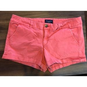 Coral American Eagle Shorts